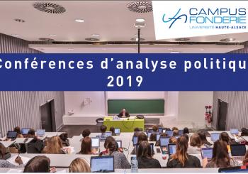 Conférences d'analyse politique 2019